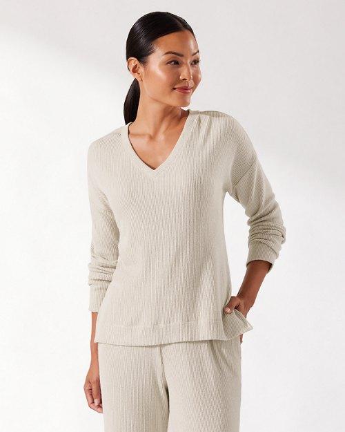 Sea Cove Island Soft® Ribbed V-Neck Shirt