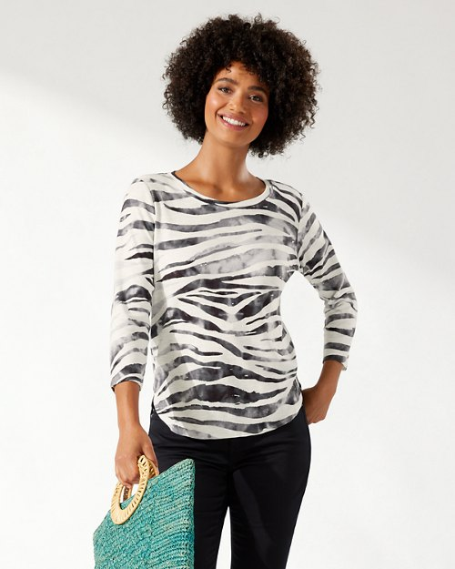 Ashby Zanzebra 3/4-Sleeve T-Shirt