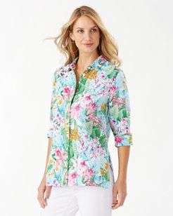 Coastalina Valley Of Flowers Linen Shirt