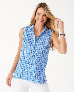 Coastalina Fineapple Sleeveless Linen Shirt