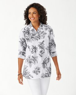 Coastalina Toile Of The Wild Linen Shirt
