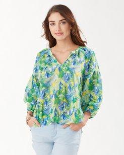 Hot Tropic 3/4-Sleeve Top