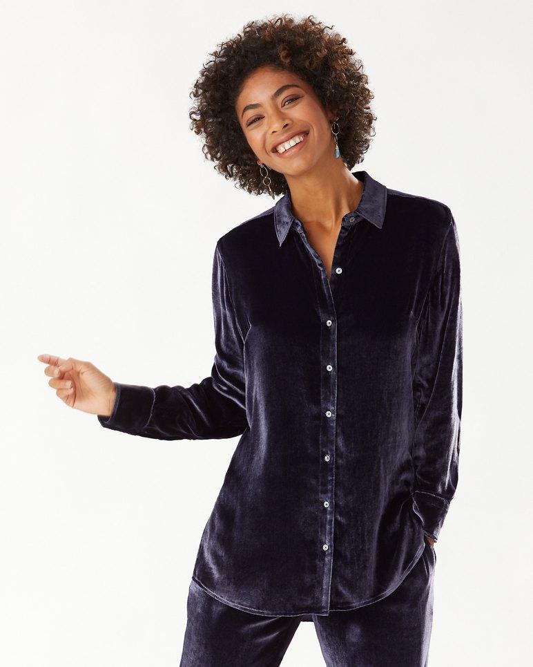 Main Image for Velvet Sands Silk-Blend Long-Sleeve Shirt