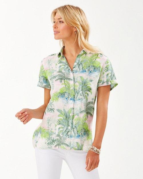 Island Hop Linen Camp Shirt