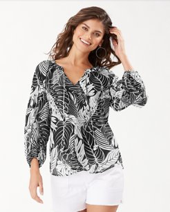 Just Leafy 3/4-Sleeve Top