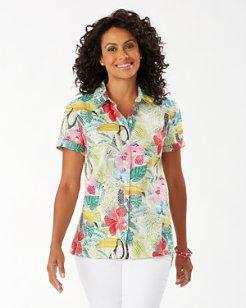 If One Can Toucan Linen Camp Shirt