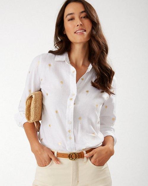 Beach Daze Long-Sleeve Linen Shirt