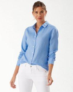 Long-Sleeve Coastalina Linen Shirt