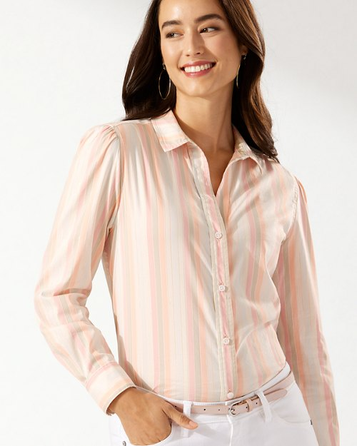 Mango Tango Stretch-Cotton Shirt