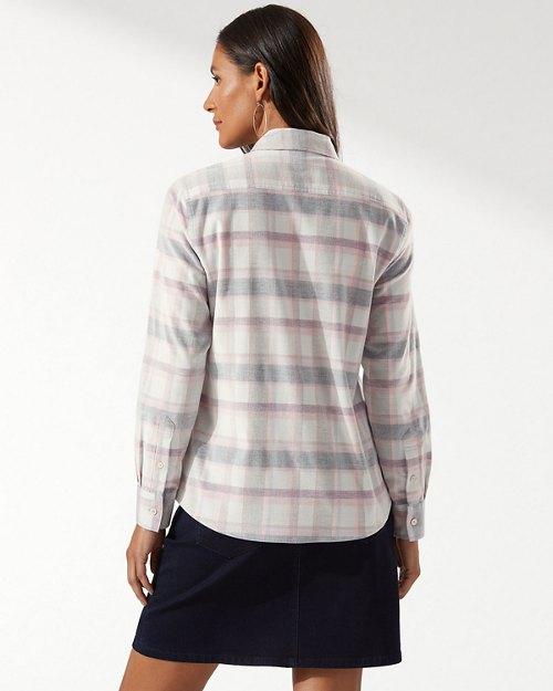 Coasta Cord Long-Sleeve Plaid Shirt