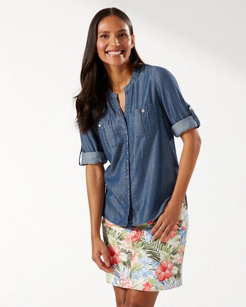 Mission Beach Indigo Long-Sleeve Shirt