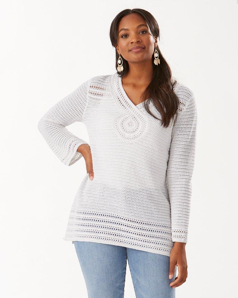 Main Image for Shimmer Sand Dollar Linen-Blend Tunic