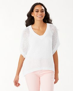 Marlina Tape Yarn V-Neck Sweater