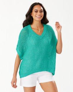Marlina Tape Yarn V-Neck Sweater