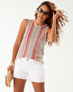 Vista Sol Stripe Swing Tank Top