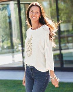 Paulina Pineapple Pullover Sweater