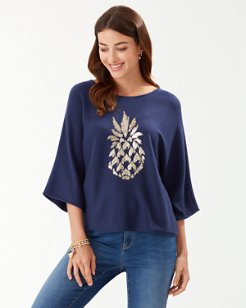 Paulina Pineapple Pullover Sweater