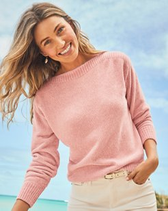 Luna Chenille Boatneck Sweater