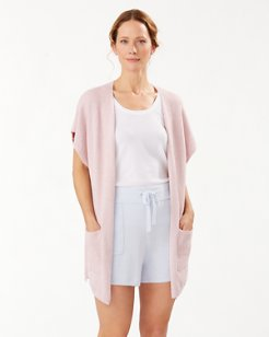 Island Soft® Sleeveless Cardigan