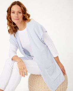 Island Soft® Sleeveless Cardigan