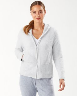 Island Soft® Palm Intarsia Full-Zip Sweater