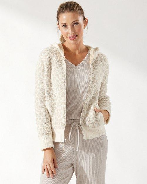 Sea Swell Island Soft® Leopard Full-Zip Sweater