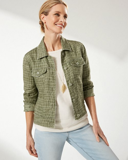 Two Palms Crocotiles Linen Jacket