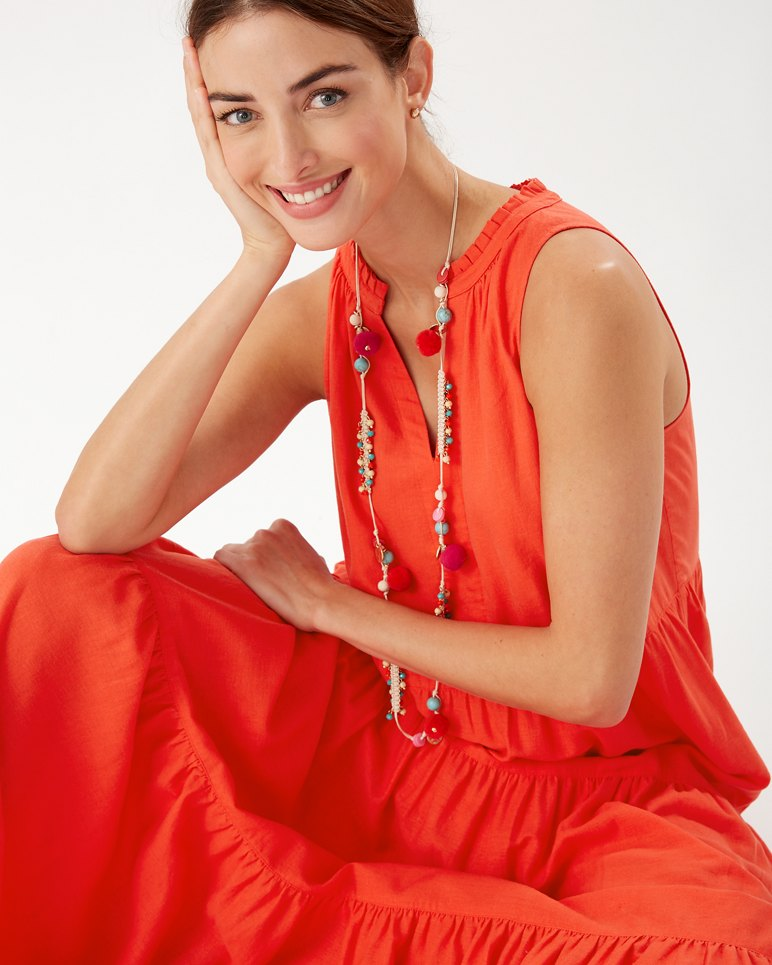 Main Image for Lena Tiered Linen-Blend Maxi Dress