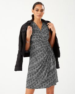 Clara Cross Roads Faux Wrap Dress