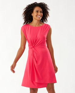 Paradisa Sleeveless Side-Twist Dress