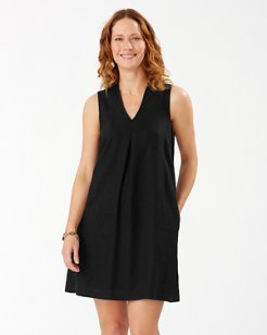 Daphne Linen-Blend Shift Dress