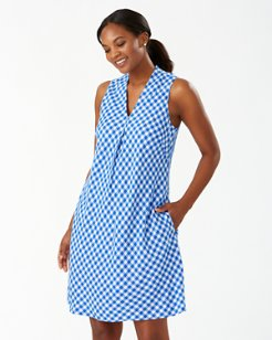 Bonita Check Linen-Blend Shift Dress