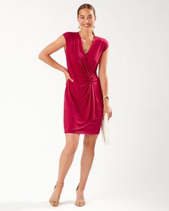 Clara Faux Wrap Dress