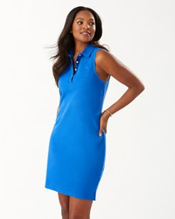 Paradise Sleeveless Garment-Dyed Polo Dress
