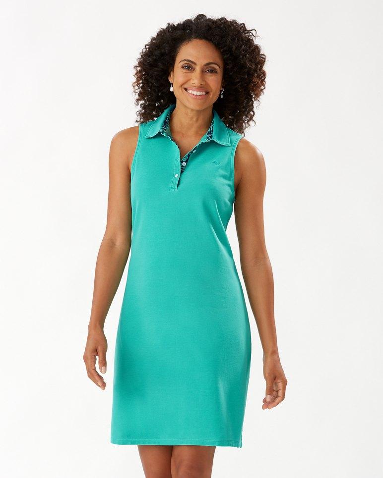 Main Image for Paradise Sleeveless Garment-Dyed Polo Dress