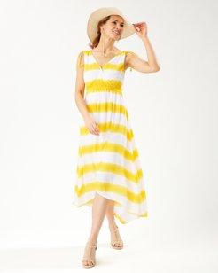 Caicos Crinkle Set Sail Stripe Maxi Sundress