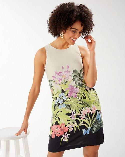 Tropolicious Linen-Blend Short Dress
