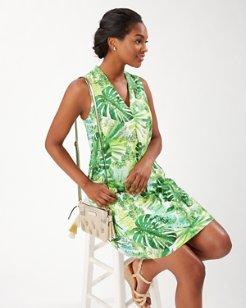 Fronderlust Linen-Blend Shift Dress