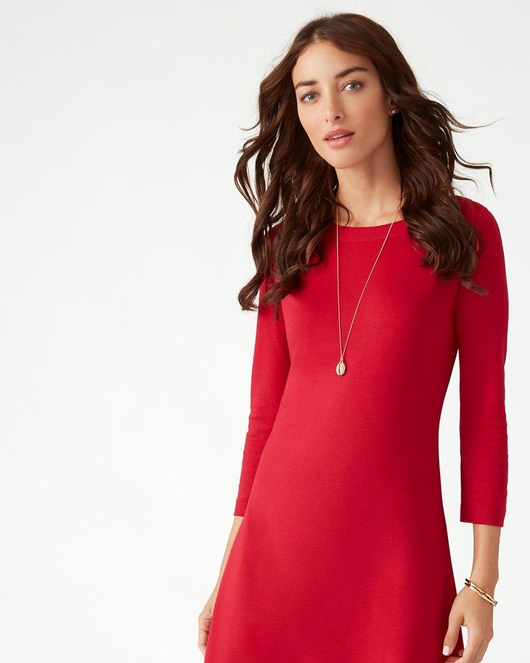Main Image for Drapey Ponte 3/4-Sleeve Dress