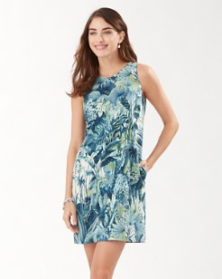 Cabana Jungle Silk Shift Dress