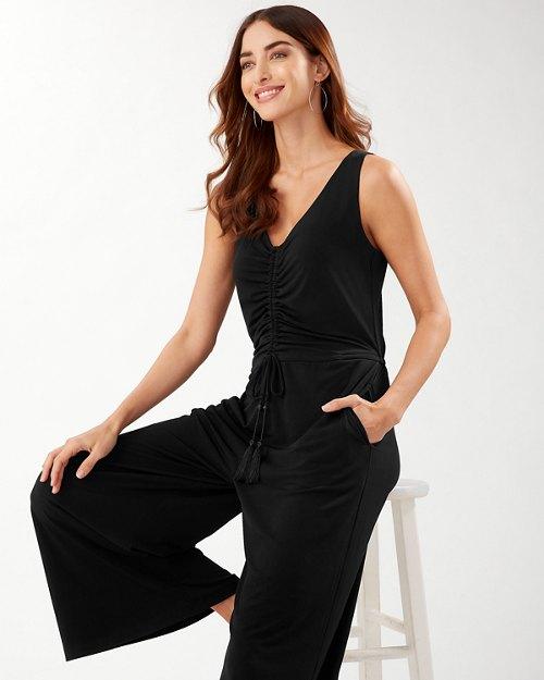 Carmela Ruched Sleeveless Jumpsuit