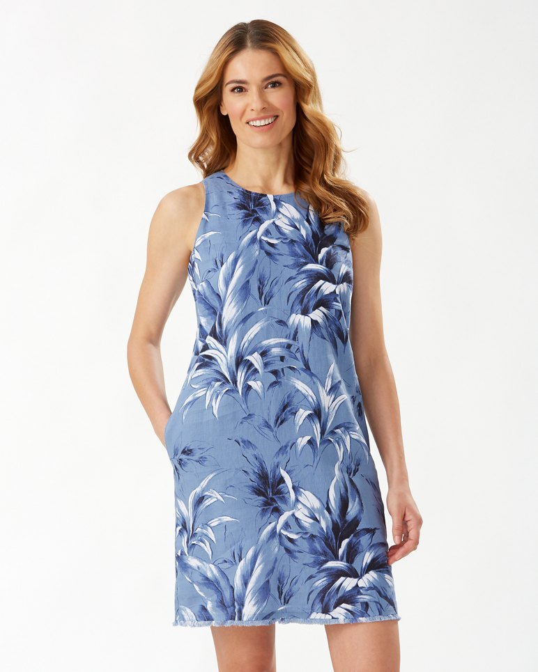 Main Image for Leaf It To Me Linen Shift Dress