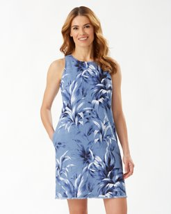 Leaf It To Me Linen Shift Dress