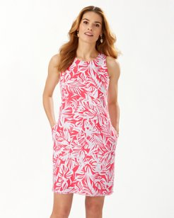 All My Fronds Linen Shift Dress