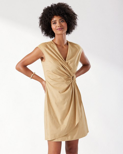 Clara Salina Sands Faux Wrap Dress