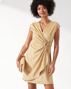 Clara Salina Sands Faux Wrap Dress