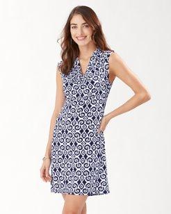 Carmela Bimini Ikat Cowl Neck Dress