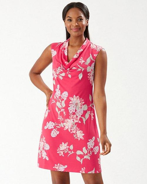 Petal Of Honor Cowl-Neck Dress