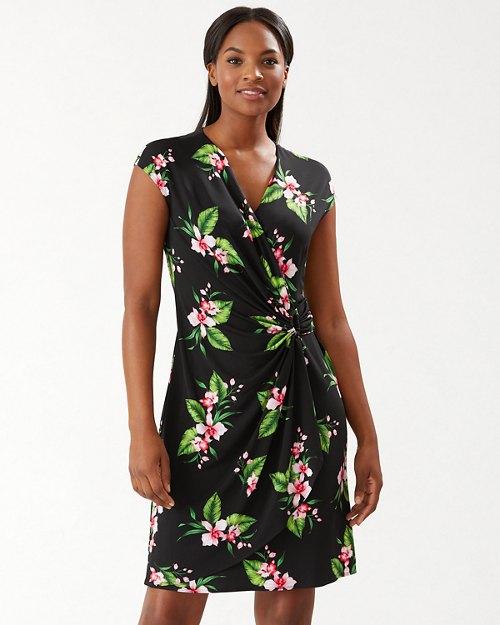 Clara Belleza Garden Faux-Wrap Dress