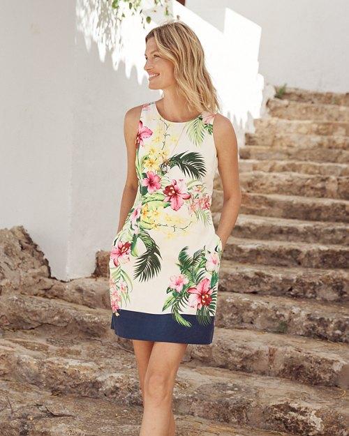 Bay of Blooms Silk Shift Dress